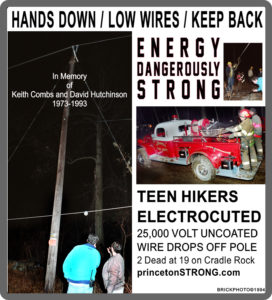 Historic Disasters – Princeton Strong – Hands Down, Low Wire.  Hikers on Cradle Rock Electrocuted