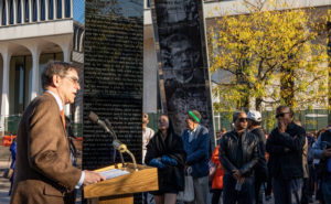 University dedicates marker addressing the complex legacy of Woodrow Wilson